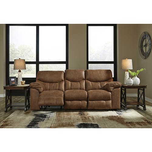 Signature Design by Ashley Boxberg-Bark Power Reclining Sofa- Room View