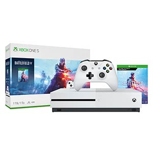 Microsoft Xbox One S 1TB Gaming Console with Battleground V Deluxe Edition
