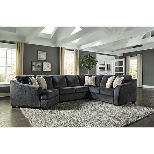 Signature Design by Ashley Eltmann-Slate 3-Piece Sectional- Room View