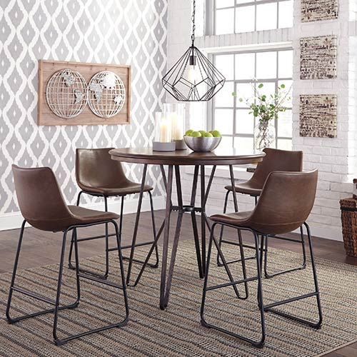 Signature Design by Ashley Centiar 5-Piece Counter-Height Dining Set- Room View