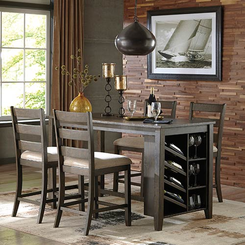 Dining Room Sets 5 Piece: Signature Design By Ashley Rokane 5-Piece Counter-Height