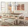 Signature Design by Ashley Bolanburg 6-Piece Dining Set- Room View