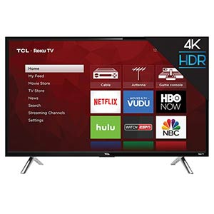 TCL ROKU 65 inch UHD 4K Smart TV 65S405