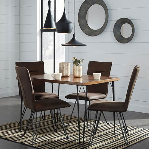 Signature Design by Ashley Moddano 5-Piece Dining Set- Room View