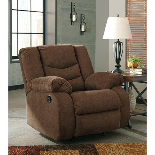 Signature Design by Ashley Tulen-Chocolate Rocker Recliner- Room View
