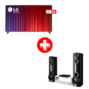 LG 55 inch Smart TV and Home Theater System Bundle