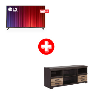 LG 55 inch Smart TV and Ashley Harlinton 63 Inch TV Stand Bundle