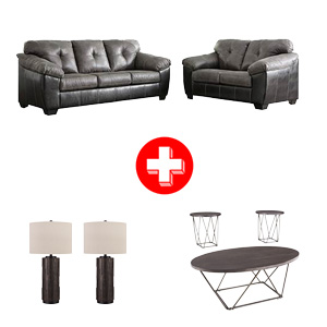 Signature Design by Ashley Gregale-Slate 7-Piece Living Room Set Bundle