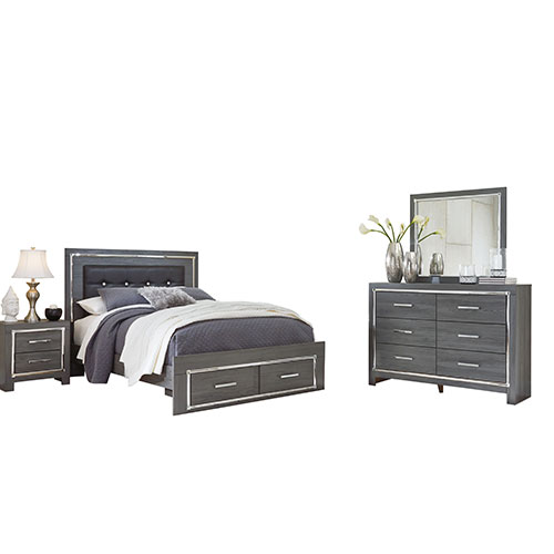 Rent to Own Ashley Lodanna 6-Piece Queen Bedroom Set