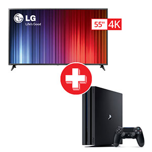 LG 55 inch Smart TV and Sony PlayStation 4 Pro Gaming Bundle