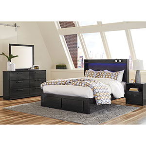 Signature Design by Ashley Faemond 6-Piece King Bedroom Set- Room View
