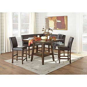 Signature Design Lakeleigh 6-Piece Counter Height Dining Set- Room View