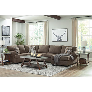 Signature Design by Ashley Palemore-Mocha 3-Piece Sectional- Room View