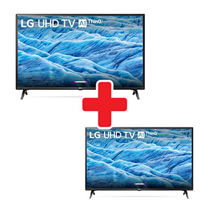 LG 65 Inch and 49 Inch 4K UHD LED Smart TV Bundle