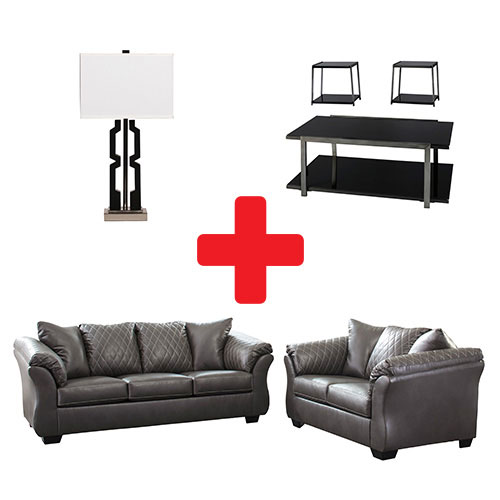 Signature Design by Ashley Betrillo-Gray 7-Piece Living Room Bundle