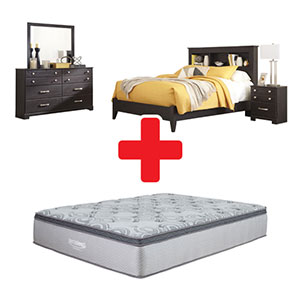 Signature Design by Ashley Reylow Queen Bedroom Set + Mattress Bundle